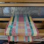 weaving on-loom from our block weave workshop