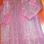 Handwoven coat by Mary Jo Schiavoni: pattern summer and winter; fiber mohair and silk