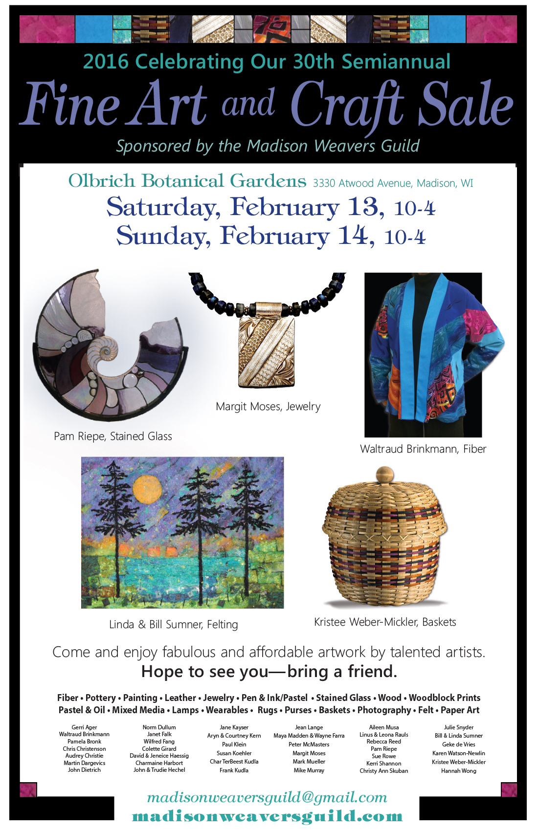 weavers guild art fair poster 11 x 17_spring